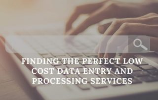 low cost data entry and processing services