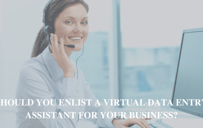 Should You Enlist a Virtual data entry Assistant for Your Business