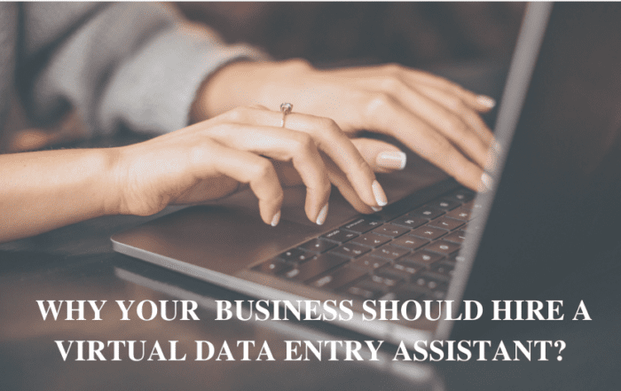 Why Your Business Should Hire a Virtual Data Entry Assistant